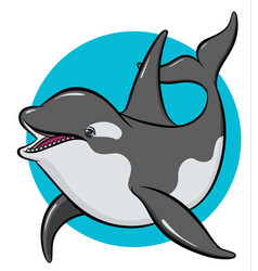 Colorful art orca vector