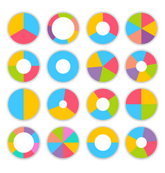 colorful pie charts infographic set vector image