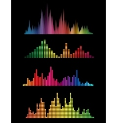 Colour music digital soundwaves vector image