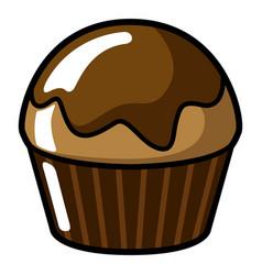comic pancake icon vector image