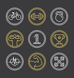 crossfit logos and emblems vector image