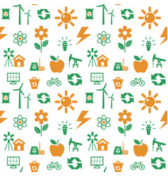 digital orange green ecology vector image