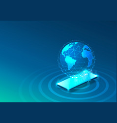 electronic online phone icon network technology vector image