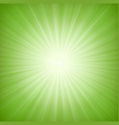 elegant green starburst background vector image