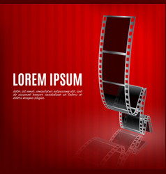 Filmstrip on a red background vector