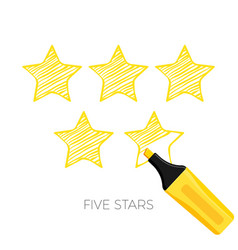 five stars rating poster with headline vector image