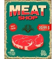 fresh meat butcher shop vector image