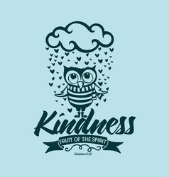 fruit of the spirit kindness vector image