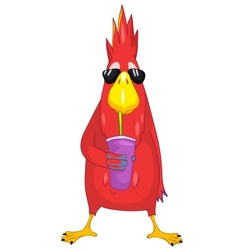 Funny Parrot Cocktail vector
