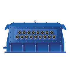 gearbox distributor with eighteen shafts vector image