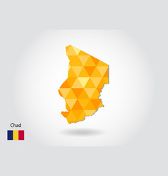 Geometric polygonal style map of chad low poly vector