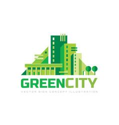 Green city - concept logo template vector