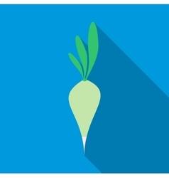 Green radish icon flat style vector image