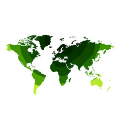 green waves world map background vector image