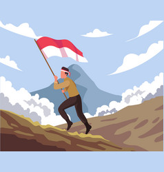Indonesian national heroes day celebration vector