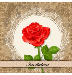 invitation rose vector image vector image