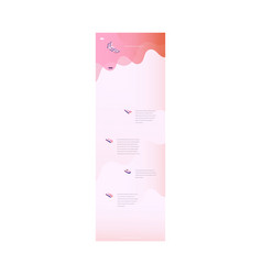 Landing page trendy vibrant gradient vector
