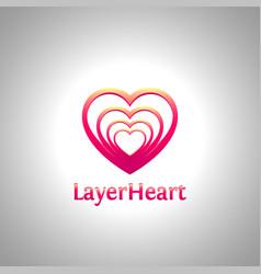 Layer heart logo vector