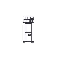 Locker cabinet line icon sign vector