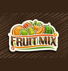Logo for fruit mix vector