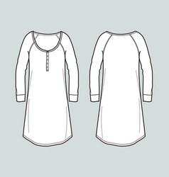 Long sleeved dress vector