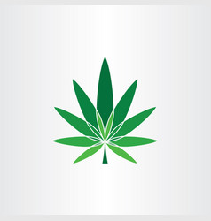 marijuana symbol icon design element cannabis logo vector image