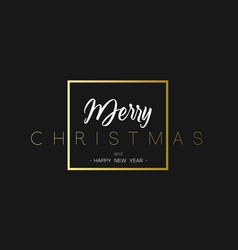 Merry christmas and happy new year luxury black vector