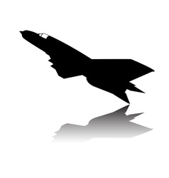 Military airplane silhouette vector