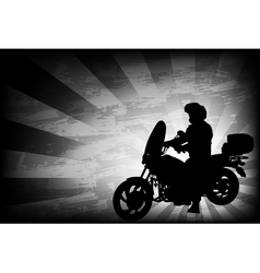 motorcyclist vector image