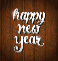 new year typography 3 vector image