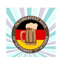 oktoberfest concept a banner with a beer bakery vector image