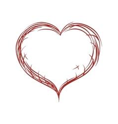 Ornamental heart icon Love design graphic vector