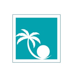 palm-tree-and-pearl-logo vector image