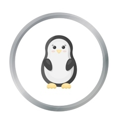 Penguin cartoon icon for web and vector