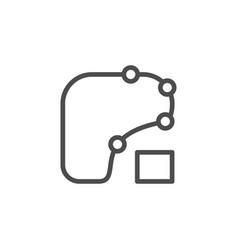 Racing scheme line outline icon vector