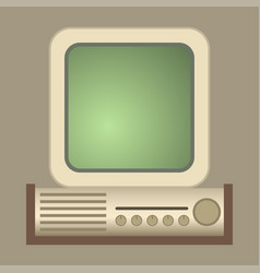retro computer old classic antique vector image