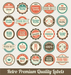 Retro Labels Set vector