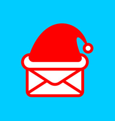santa mail logo christmas post emblem mail vector image