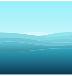Sea Abstract Background of Blue Waves vector