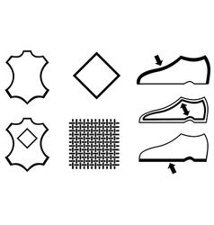 Shoes symbol vector