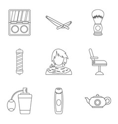 smell icons set outline style vector image
