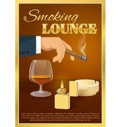 Smoking lounge poster vector