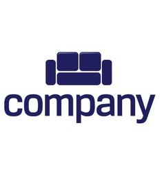 Sofa logo furniture company vector