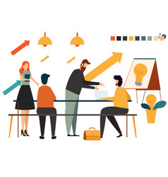 startup business people group working everyday vector image