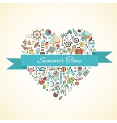 Summer doodles vector image