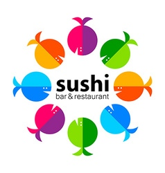 Sushi bar restaurant vector