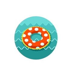 Swimming circle on water icon Summer Vacation vector