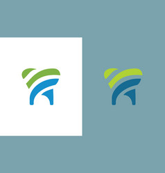 tooth dental logo vector image