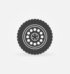 truck wheel icon or design element vector image