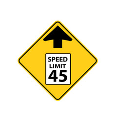 usa traffic road signs reduce speed limit sign vector image
